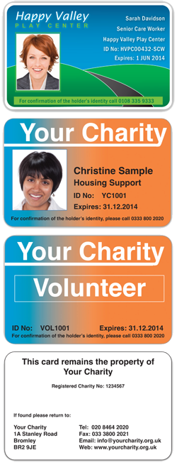 Images of Charity ID Card Designs